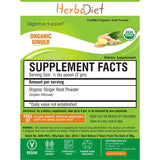 Organic Herb Powders - Herbadiet USDA Organic Ginger Root Powder Zingiber Officinale Supplement