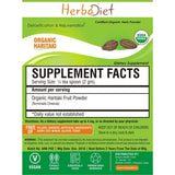 Organic Herb Powders - Herbadiet USDA Organic Haritaki Fruit Powder Terminalia Chebula Supplement