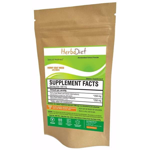 Proprietary Blend Extract Powders - PURE Horny Goat Weed Extract 20% With Maca Root Powder Enhanced Libido Stamina