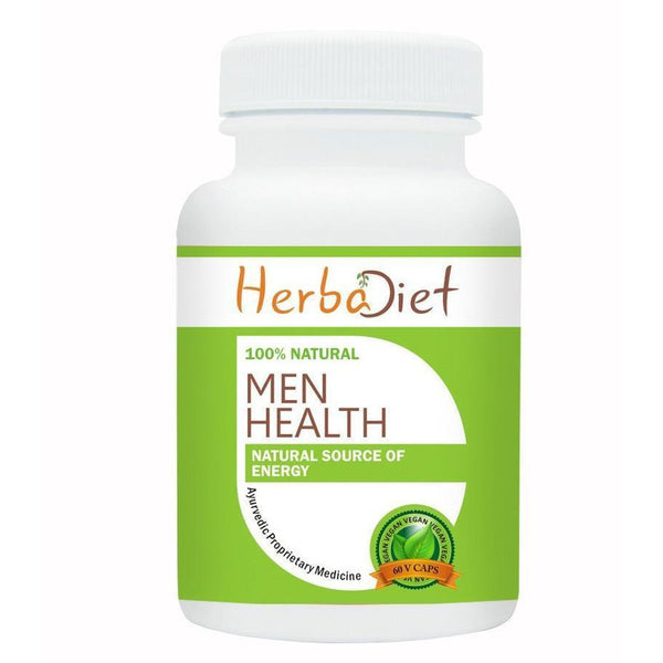 Proprietary Blends Capsules - Herbadiet Men Health Supplement Testosterone Booster 500mg Vegetarian Capsules