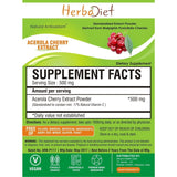 Standardized Extracts - Herbadiet Acerola Cherry 17% Vitamin C Powder Extract Supplement Natural Antioxidant