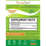Standardized Extracts - Herbadiet Asparagus Racemosus Shatavari 20% Powder Extract Supplement