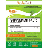 Standardized Extracts - Herbadiet Banaba 18% Corosolic Acid Powder Extract Supplement
