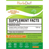 Standardized Extracts - Herbadiet Centella Asiatica 20% Asiaticosides Gotu Kola Powder Extract Supplement Anxiety & Calm Mind