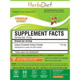 Standardized Extracts - Herbadiet Coleus Forskohlii 98% Forskolin Powder Extract Supplement - Fat Burner Healthy Heart