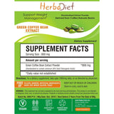 Standardized Extracts - Herbadiet Green Coffee Bean 50% Chlorogenic Acid Powder Extract Supplement - Fat Burner