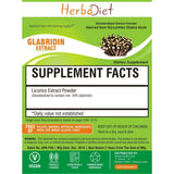 Standardized Extracts - Herbadiet Licorice Extract GLABRIDIN 40% Powder Glycyrrhiza Glabra ETHANOL Soluble