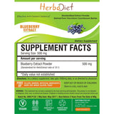 Standardized Extracts - Herbadiet Natural Antioxidants Blueberry Extract 10:1 Powder Memory Supplement