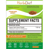 Standardized Extracts - Herbadiet Pygeum Bark 13% Phytosterols Powder Extract Supplement