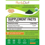 Standardized Extracts - Herbadiet USDA Organic SPIRULINA Powder Green Algae Chlorophyll Supplement