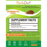 Standardized Extracts - Herbadiet Yohimbe Bark 8% Yohimbine HCL Powder Extract Sexual Wellness