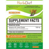 Standardized Extracts - PURE Berberine HCL 98% Extract Powder Blood Sugar Control Boosts Glucose Support