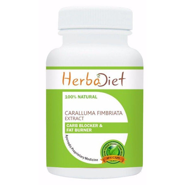 Standardized Single Herb Extract Capsules - Caralluma Fimbriata 20:1 Extract 30% Glycosides 500mg Veg Capsules Weight Loss