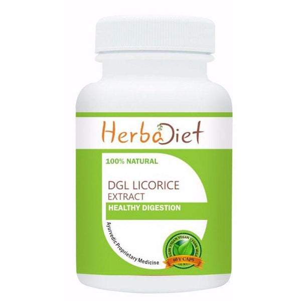 Standardized Single Herb Extract Capsules - Deglycyrrhizinated Licorice DGL Extract 500mg Veg Capsules Digestive Support