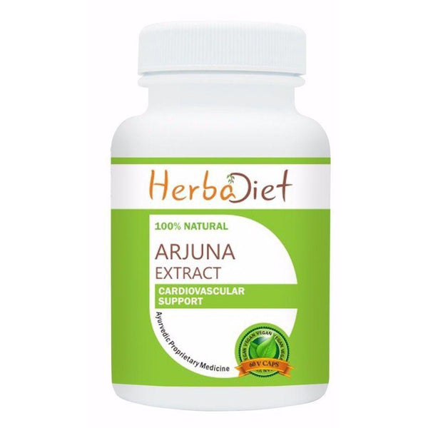 Standardized Single Herb Extract Capsules - High Potency Arjuna Bark 10:1 Extract 500mg Veg Capsules Cardiovascular Support