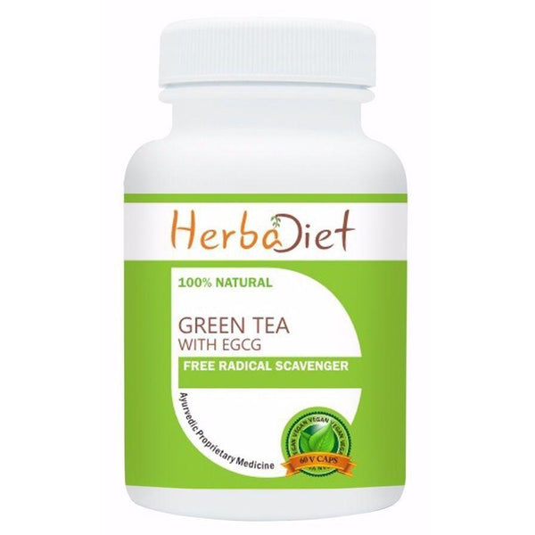 Standardized Single Herb Extract Capsules - PURE Green Tea Extract 90% Polyphenols 50% EGCG Vegan 500mg Capsules Antioxidant