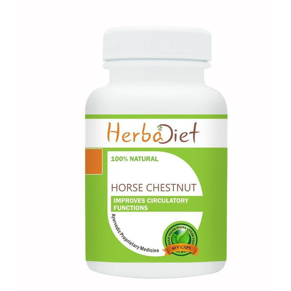 Standardized Single Herb Extract Capsules - PURE Horse Chestnut Extract 20% Aescin 500mg Veg Capsules Varicose Veins Support