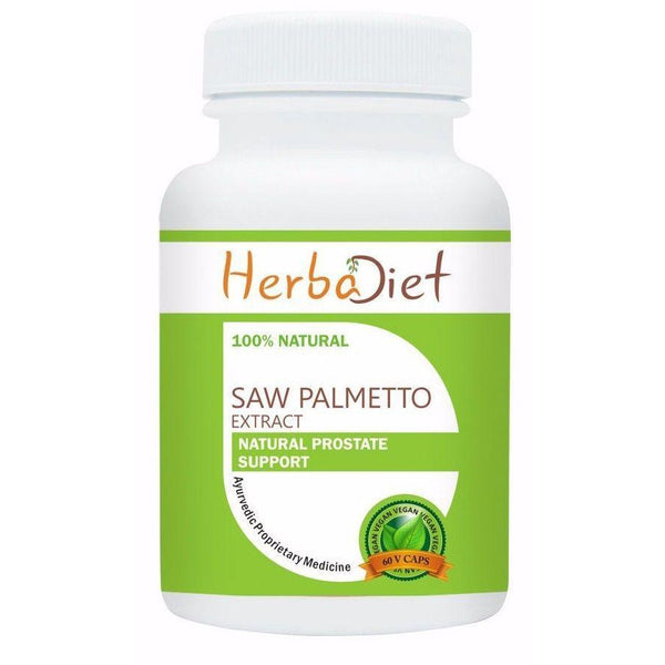 Standardized Single Herb Extract Capsules - PURE Saw Palmetto Extract 45% Fatty Acids Vegan 500mg Capsules Prostate Support