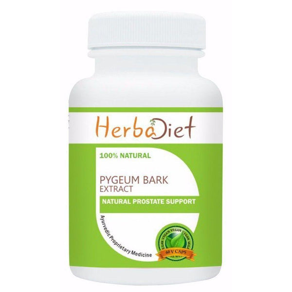 Standardized Single Herb Extract Capsules - Pygeum Bark Extract 13% Phytosterols 100mg Veg Capsules Healthy Prostate Support
