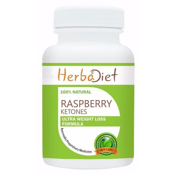 Standardized Single Herb Extract Capsules - Raspberry Ketones 10:1 Extract 500mg Veg Capsules Natural Weight Loss Fat Burn