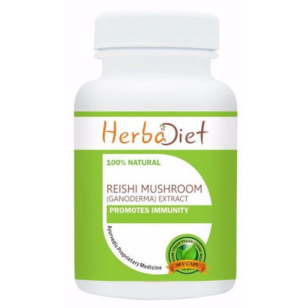 Standardized Single Herb Extract Capsules - Reishi Mushroom Lingzhi Ganoderma Lucidum Extract Vegan 500mg Capsules Longevity