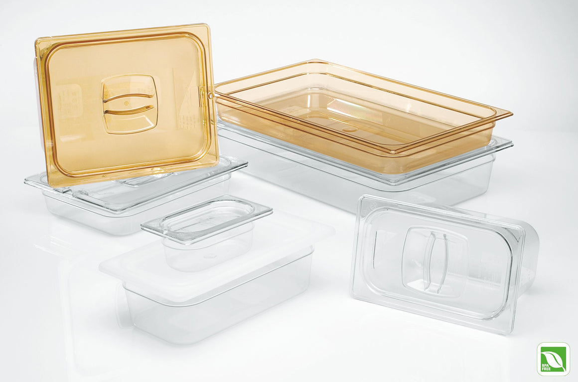 "FOOD PAN 1/9 SIZE 2½"" CLEAR"