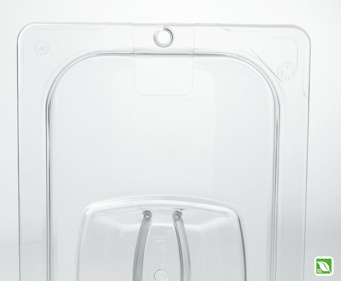 1/9 SIZE COVER W/PEG HOLE CLEAR