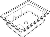 RUBBERMAID 1/2 SIZE, HOT FOOD PAN 2½""
