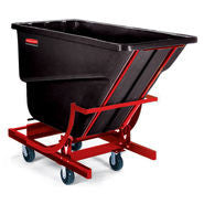 "RUBBERMAID SELF DUMPING HOPPER W/FOUR 6"" Dia POLYOLEFIN CASTERS"