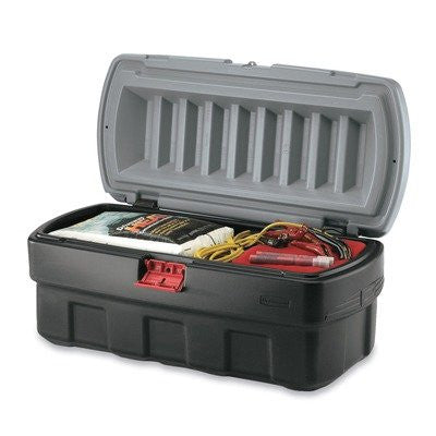RUBBERMAID ACTION PACKER CARGO BOX BLACK/GRAY COVER