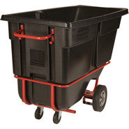 RUBBERMAID FORKLIFTABLE TILT TRUCK 1cu BLACK