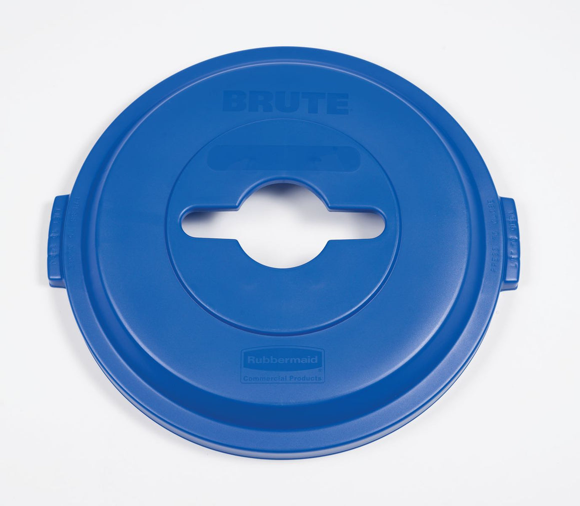 BRUTE SINGLE STREAM RECYCLING TOP BLUE for 32GAL CONTAINER