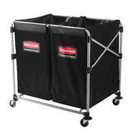 RUBBERMAID EXECUTIVE 8-BUSHEL COLLAPSIBLE MULTISTREAM X-CARTS
