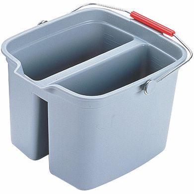 DOUBLE PAIL 17qt GRAY