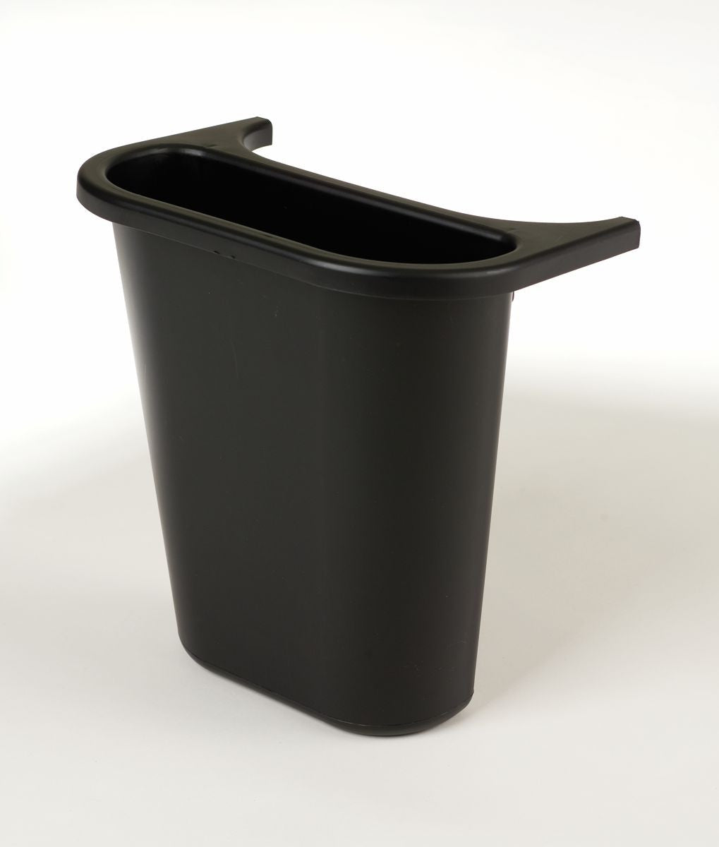 "SIDE BIN RECYCLING CENTER 10.6x7.3x11.7"" BLACK"