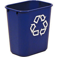 "RUBBERMAID RECYCLING CONTAINER 13-5/8qt W/""WE RECYCLE"" IMPRINT"