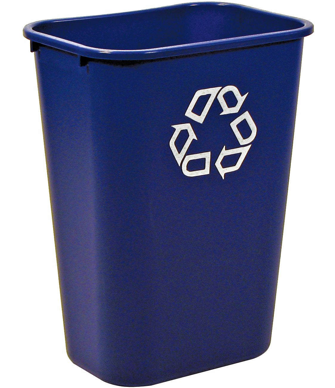 RECYCLING CONT. 41¼qt BLUE W/UNIVERSAL RECYCLE SYMBOL