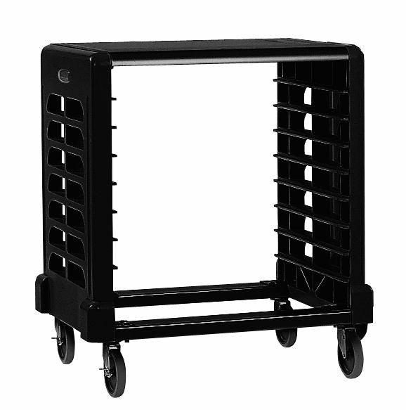 PREP CART W/CUTTING BOARD (8-SLOT SIDE LOADER) BLACK