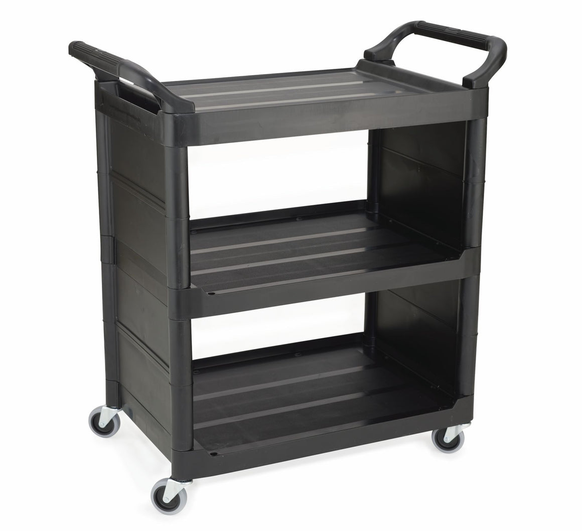 UTILITY CART WITH 2 SIDE PANEL BLACK