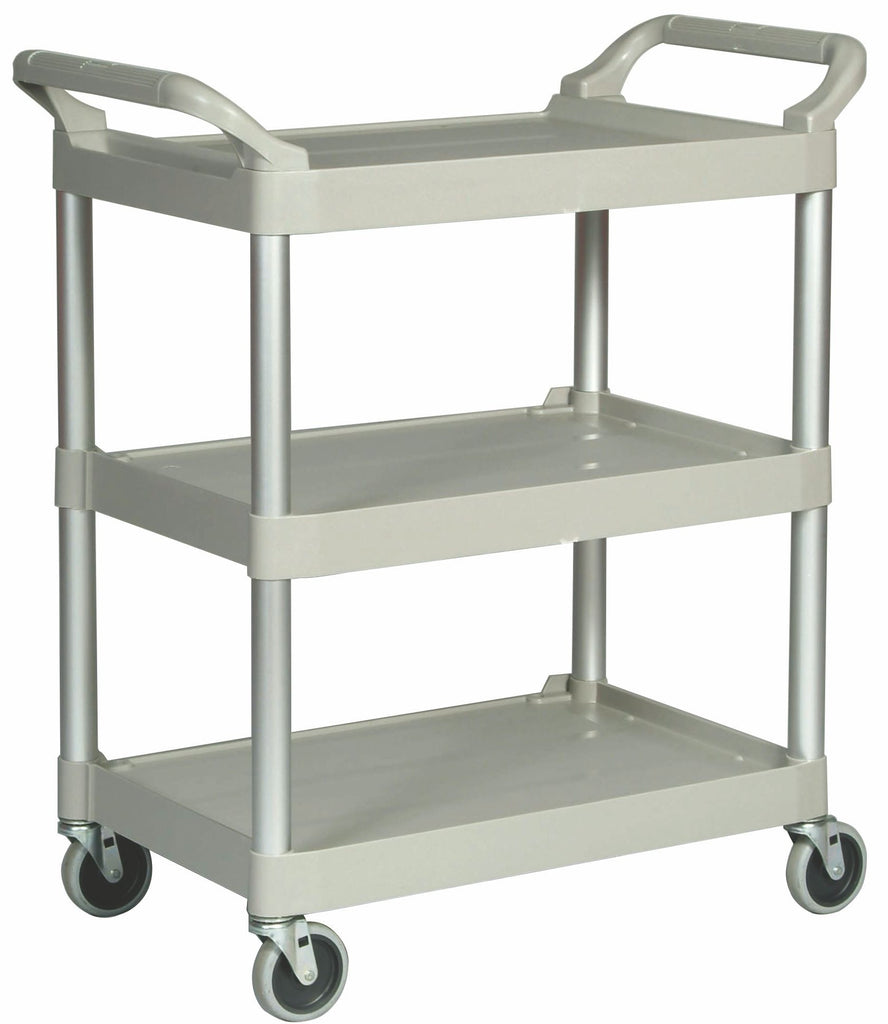 "UTILITY CART W/4"" SWIVEL CASTERS PLATINUM"