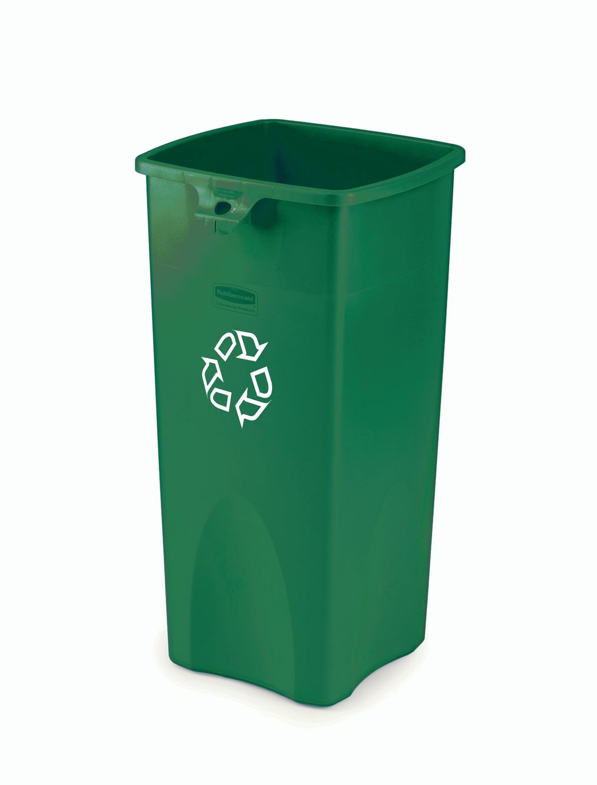 "SQ CONTAINER 23gal ""RECYCLING"" GREEN"