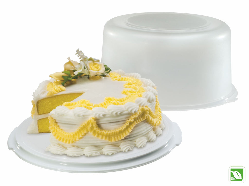 SERVE N SAVER CAKE KEEPER WHITE/red