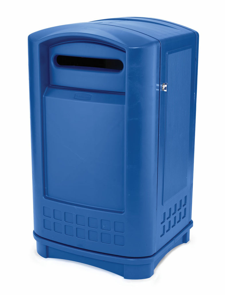 PLAZA PAPER RECYCLING CONTAINER BLUE
