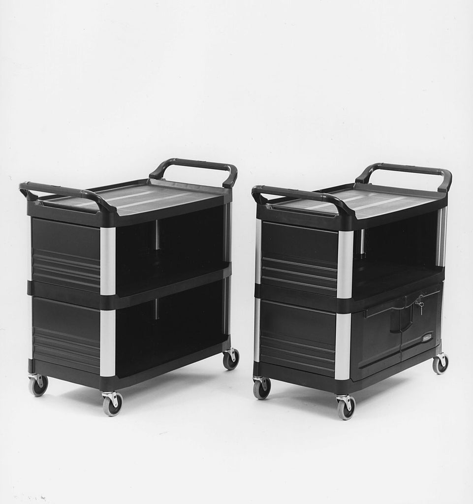 X-tra UTILITY CART ENCLOSED on 3 SIDE BLACK