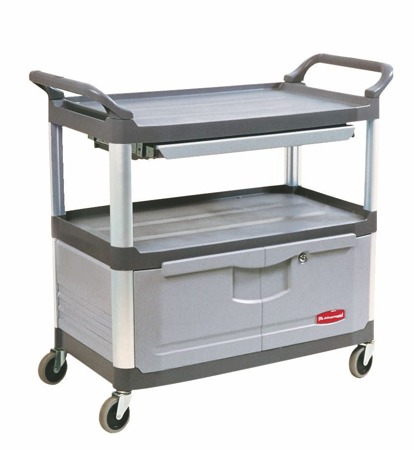 71353-00 X-tra INSTRUMENT CART W/LOCKABLE DOOR & SLIDING DRAWER GRAY