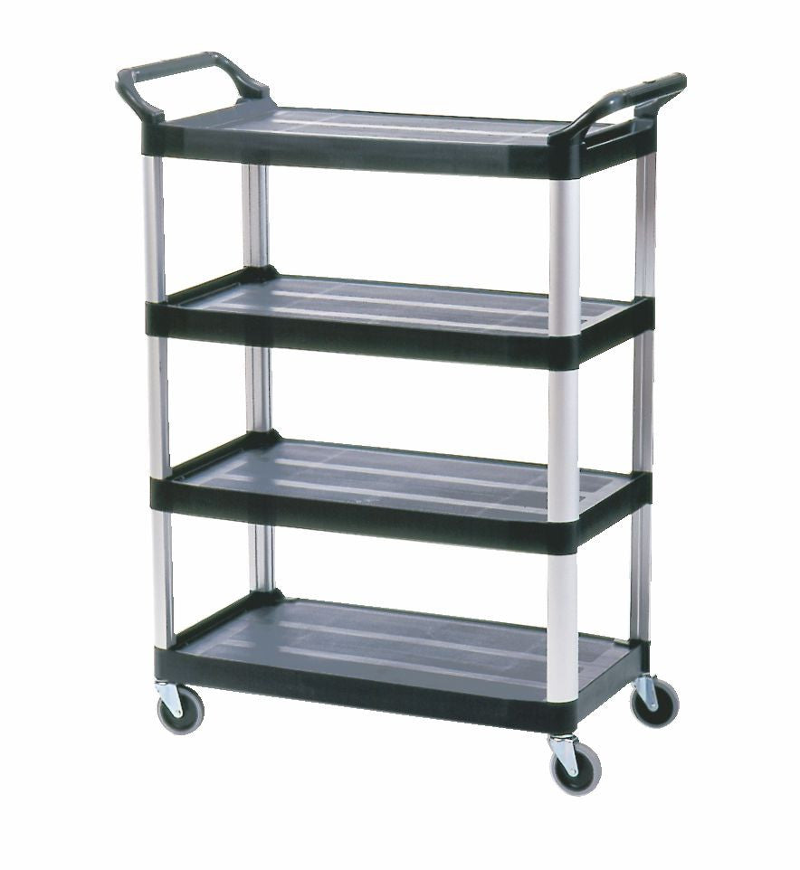 X-tra 4 SHELF CART BLACK