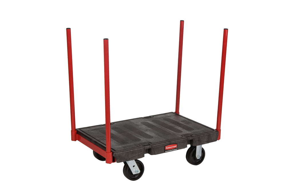 "STANCHION PLATFORM TRUCKS 24x36"" BLACK"