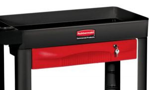 RUBBERMAID SINGLE HALF EXTENSION DRAWER RED for 4500-88,4510.