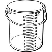 RUBBERMAID RD CONTAINER 22qt W/BAIL