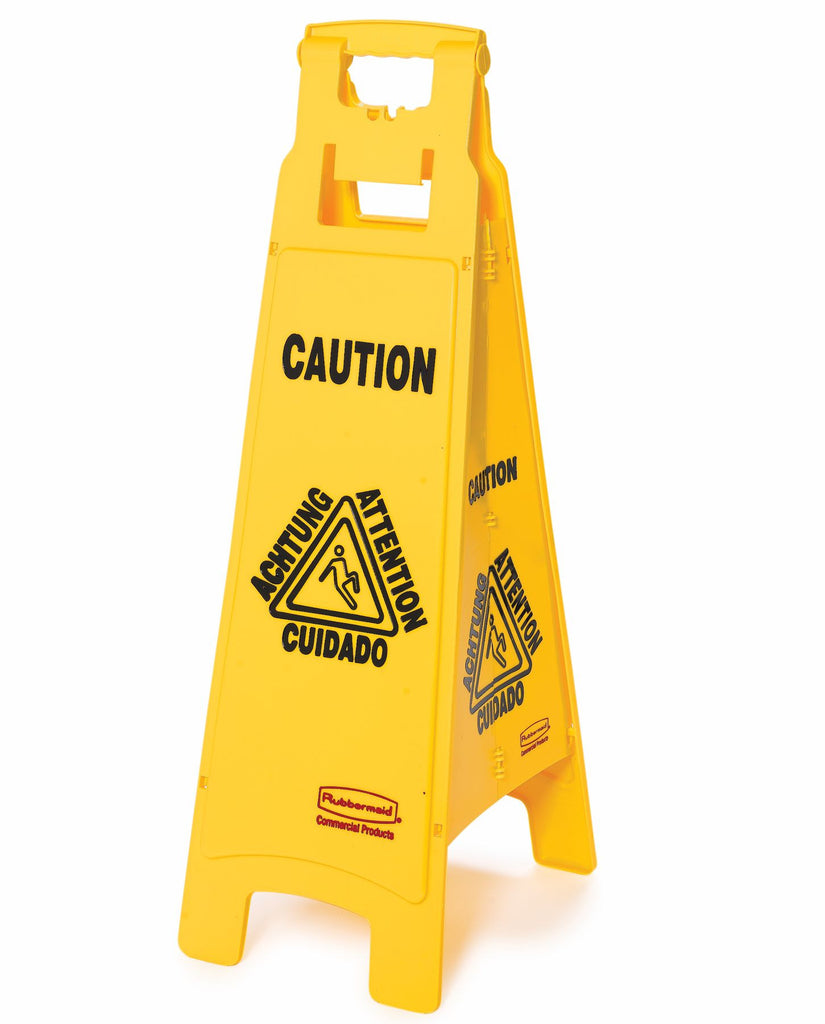 "FLOOR SIGN ""CAUTION""4 SIDED"